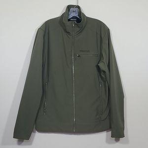 Marmot Green Soft Shell Mens Jacket Size L
